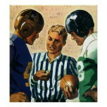 Vintage Sports, Football Ref Coin Toss Posters