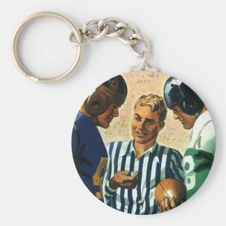Vintage Sports, Football Referee Coin Toss Keychain