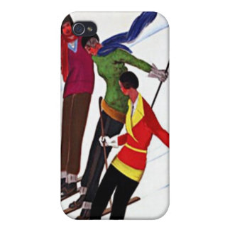 Vintage Sports French Skiing Travel Poster Ad iPhone 4/4S Case