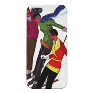 Vintage Sports French Skiing Travel Poster iPhone 5/5S Covers