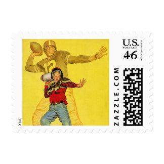Vintage Sports Future Football Quarterback Stamps