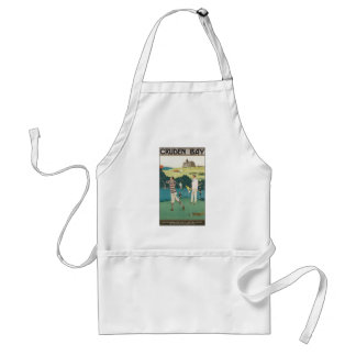 Vintage Sports Golf in Scotland, Golfers Golfing Adult Apron