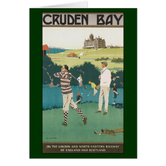 Vintage Sports Golf in Scotland, Golfers Golfing Card