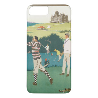 Vintage Sports Golf in Scotland, Golfers Golfing iPhone 8 Plus/7 Plus Case