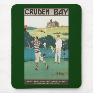 Vintage Sports Golf in Scotland, Golfers Golfing Mouse Pad