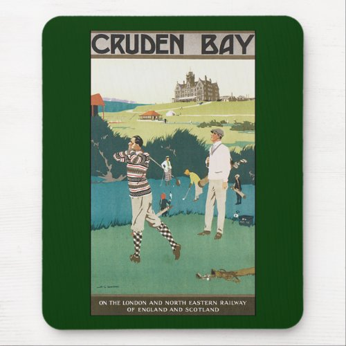 Vintage Golf in Scotland Mouse Pad