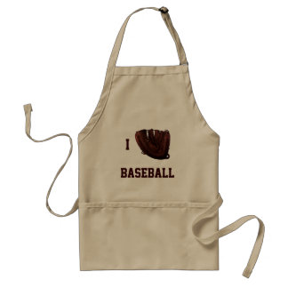 Vintage Sports, I Love Baseball, I Glove Baseball Adult Apron
