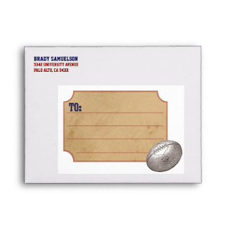 Vintage Sports Personalized Envelope - Football