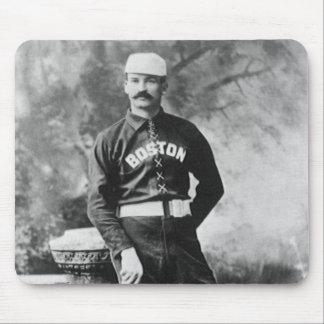 Vintage Sports Photo, Boston Baseball Player Mouse Pad
