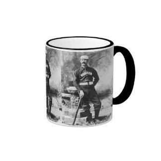 Vintage Sports Photo, Boston Baseball Player Ringer Mug