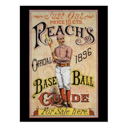 Vintage Sports Reach's Baseball Guide Cover 1896 Postcard