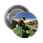 Vintage Sports, Sad Football Fan Pinback Button