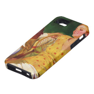 Vintage Sports Tennis Love and Romance iPhone 5 Cases