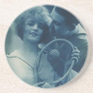 Vintage Sports Tennis, Love and Romance Coaster