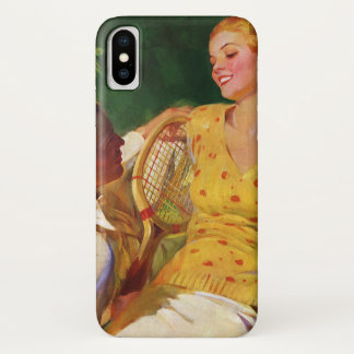 Vintage Sports Tennis, Love and Romance iPhone X Case