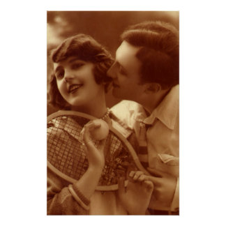 Vintage Sports Tennis, Love and Romance Poster