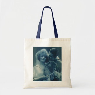 Vintage Sports Tennis, Love and Romance Tote Bag