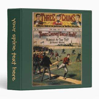 Vintage Sports Three Chums Magazine Cover Art 3 Ring Binder