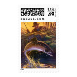 Vintage Sports Trout Fish Fishing, Catch n Release Stamps