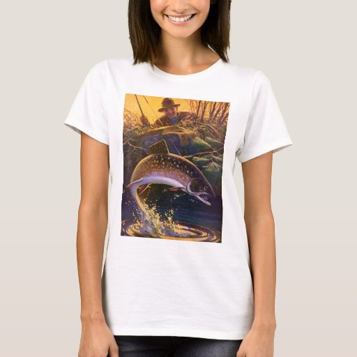 Vintage Sports Trout Fish Fishing, Catch n Release T-Shirt