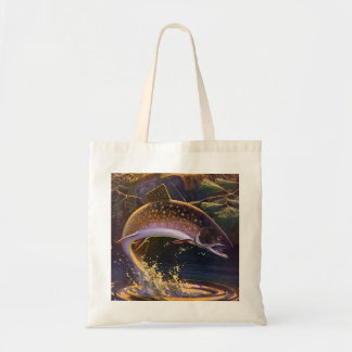 Vintage Sports Trout Fish Fishing, Catch n Release Tote Bag
