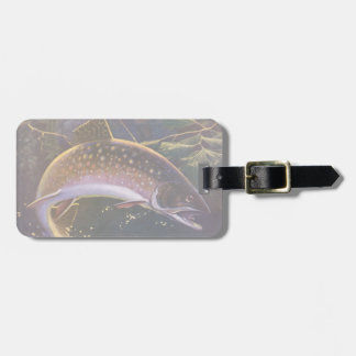 Vintage Sports Trout Fishing; Catch and Release Luggage Tags