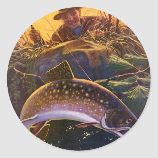 Vintage Sports Trout Fishing; Catch and Release Stickers