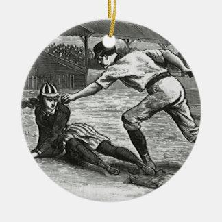 Vintage Sports, Victorian Women's Baseball Teams Ceramic Ornament