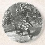 Vintage Sports, Victorian Women's Baseball Teams Drink Coaster