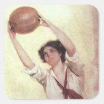 Vintage Sports, Woman Basketball Player Sticker