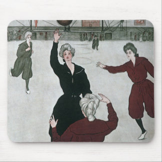 Vintage Sports, Women's Basketball Players in Game Mouse Pad