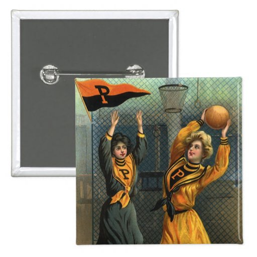 Vintage Sports, Women's Basketball Teams Buttons