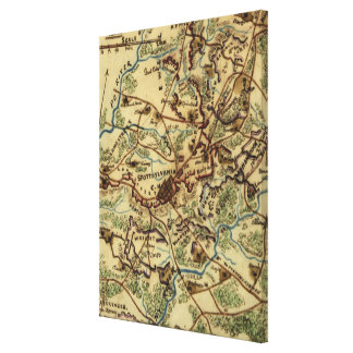 Vintage Spotsylvania Virginia Civil War Map (1865) Canvas Print