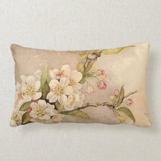 Vintage Spring Blossoms Lumbar Pillow