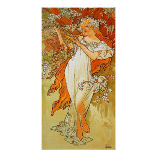 Vintage Spring by Alphonse Mucha Posters