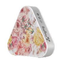 Vintage spring floral bouquet grunge pattern bluetooth speaker