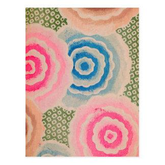 Vintage Spring Floral Design Postcard