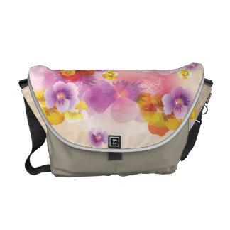 Vintage Spring Flowers Pink Tones Messenger Bag