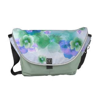 Vintage Spring Flowers Tones Messenger Bag