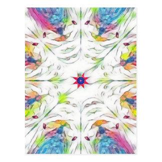 vintage spring handkerchief pattern postcard