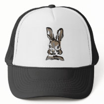 Vintage spring rabbit trucker hat