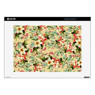 "Vintage Spring Romantic Floral 15"" Laptop Decal"