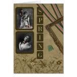 "Vintage"" Spring"" Scrapbook Greeting Card"