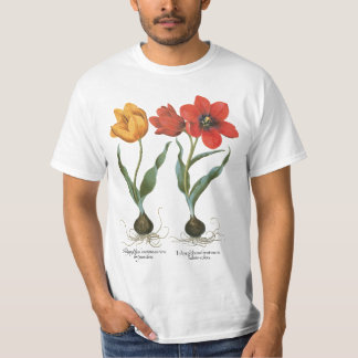 Vintage Spring Tulip Flowers by Basilius Besler T-Shirt