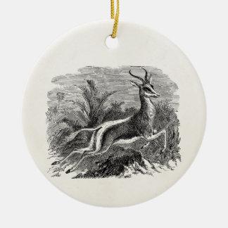 Vintage Springbok Antelope Gazelle Personalized Ceramic Ornament