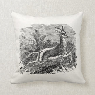 Vintage Springbok Antelope Gazelle Personalized Pillow