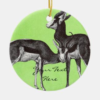 Vintage Springbok Ornament