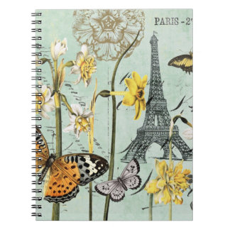 Vintage Springtime in Paris Notebook