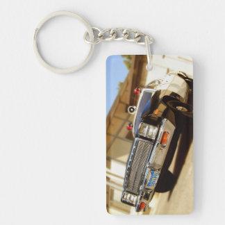 Vintage Squad Car Keychain