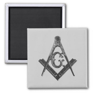 Vintage Square & Compasses Fridge Magnets